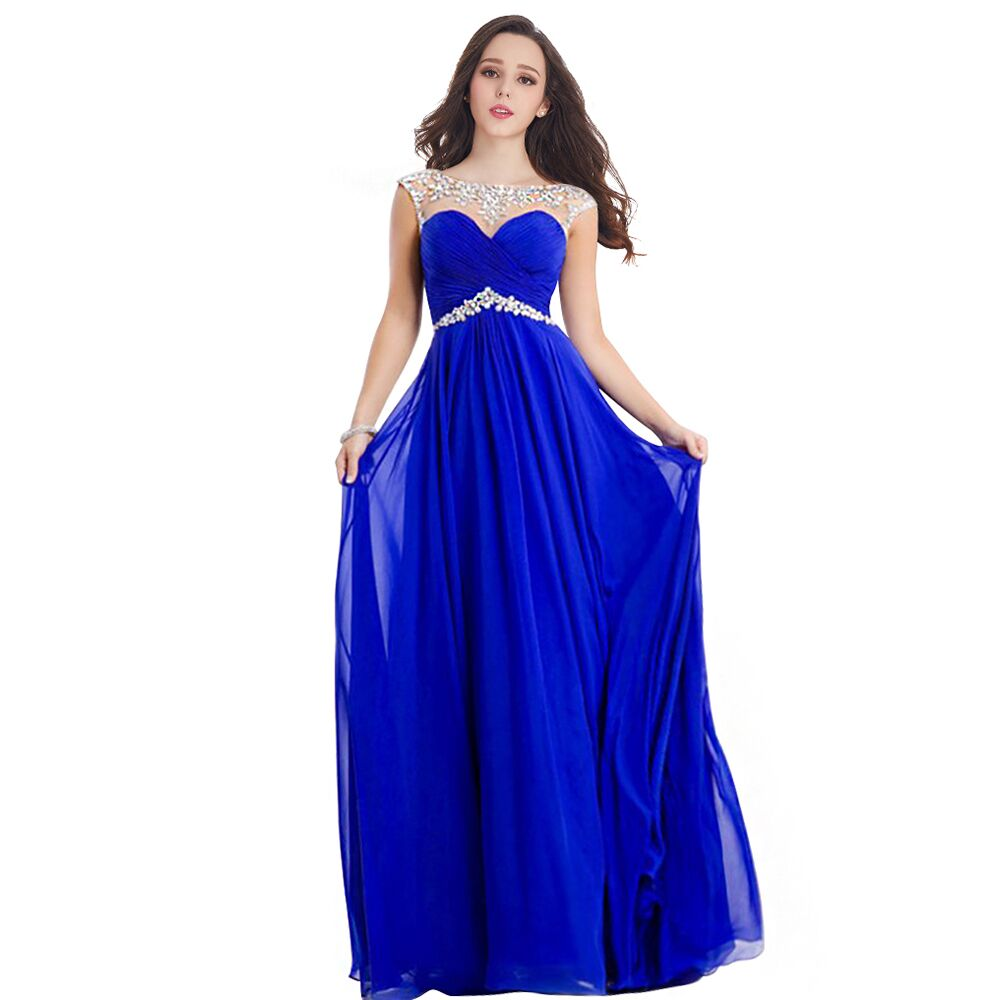 Online Get Cheap Beading Blue Prom Dresses -Aliexpress.com ...