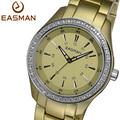 EASMAN Brand Champagne Ultra Light Titanium Aluminum Rhinestone Fashion Watches Wristwatch Women Lady Quartz Watch