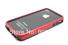 High Quality 2-Colors Hybrid TPU PC Frame Bumper For iphone 4 4G 4S Free Shipping UPS DHL HKPAM(China (Mainland))