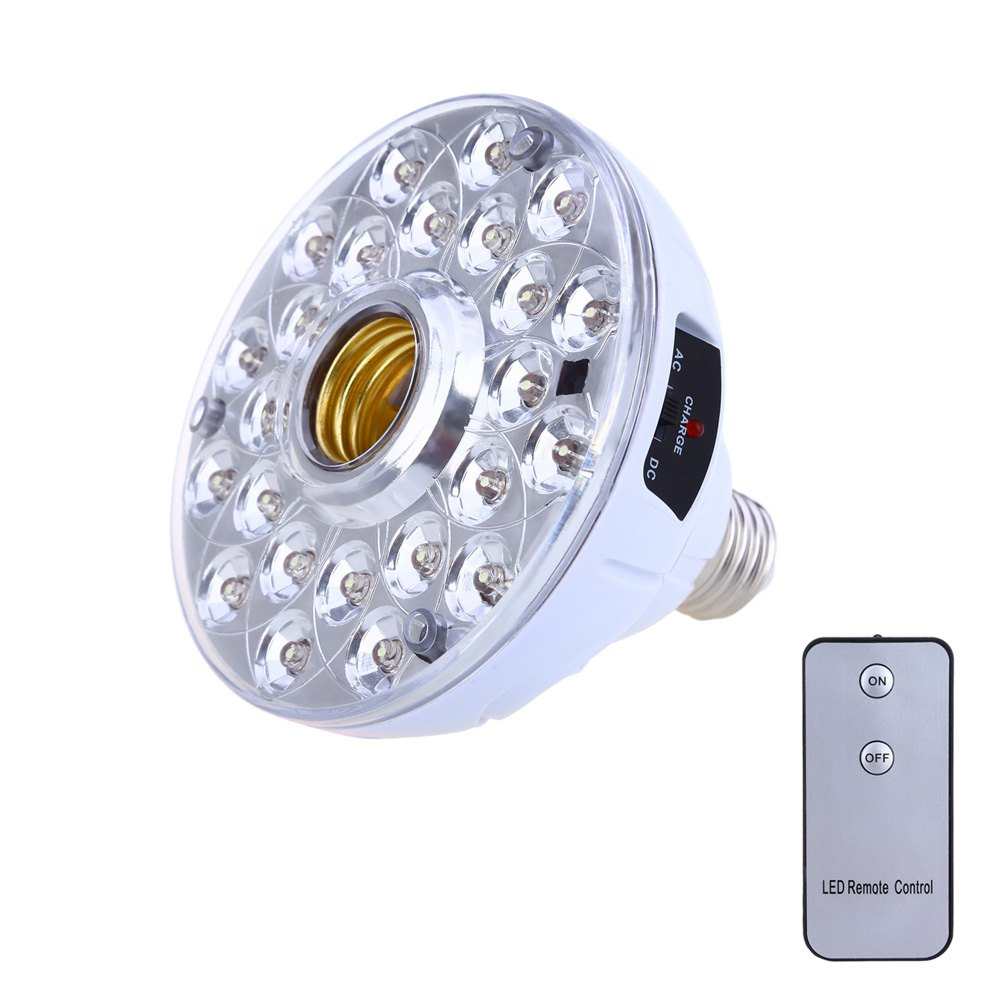 50000H Long Life E27 / B22 5W LED Rechargeable Emergency Light Bulb Built-in lithium ion Battrey with Remote Control(China (Mainland))