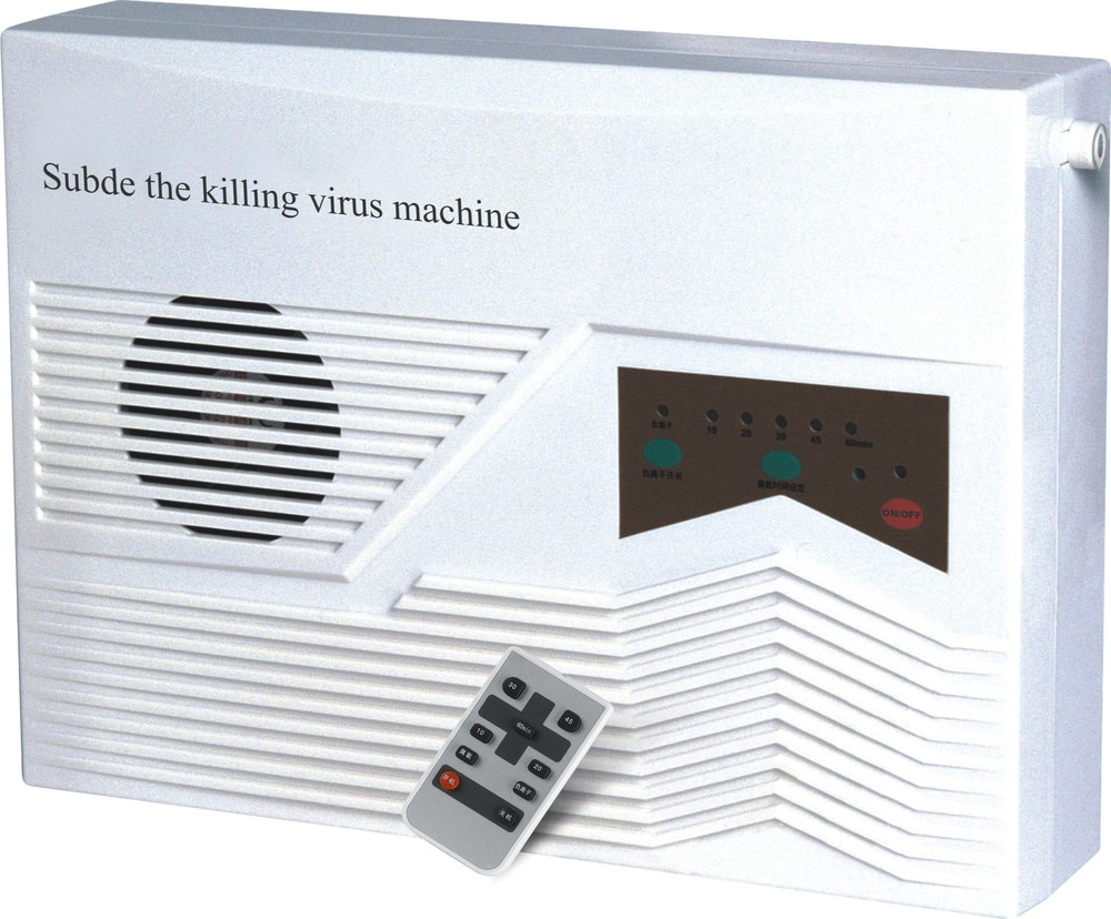 Wall mounted ozone generator and negative ion ionizer air purifier air cleaner remove smoke and fusty smell(China (Mainland))