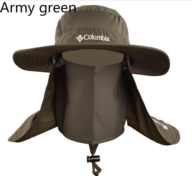 2015 Hot summer sand sun protection bob hiking hunting wide brim UV protection womens mens fishing hat bucket hat fisherman hat(China (Mainland))