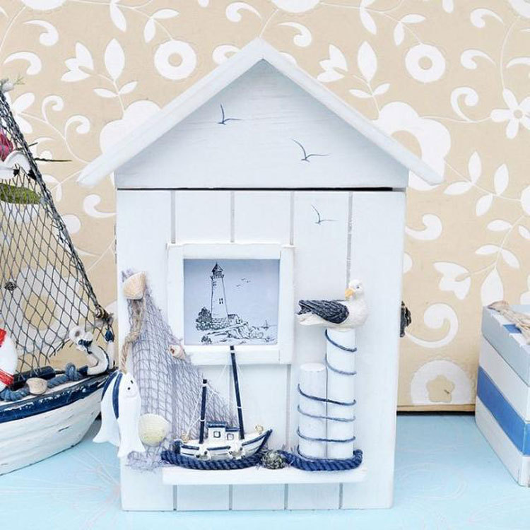 ... nautical Hanging Belt Hook Key Box-in Storage Boxes & Bins from Home