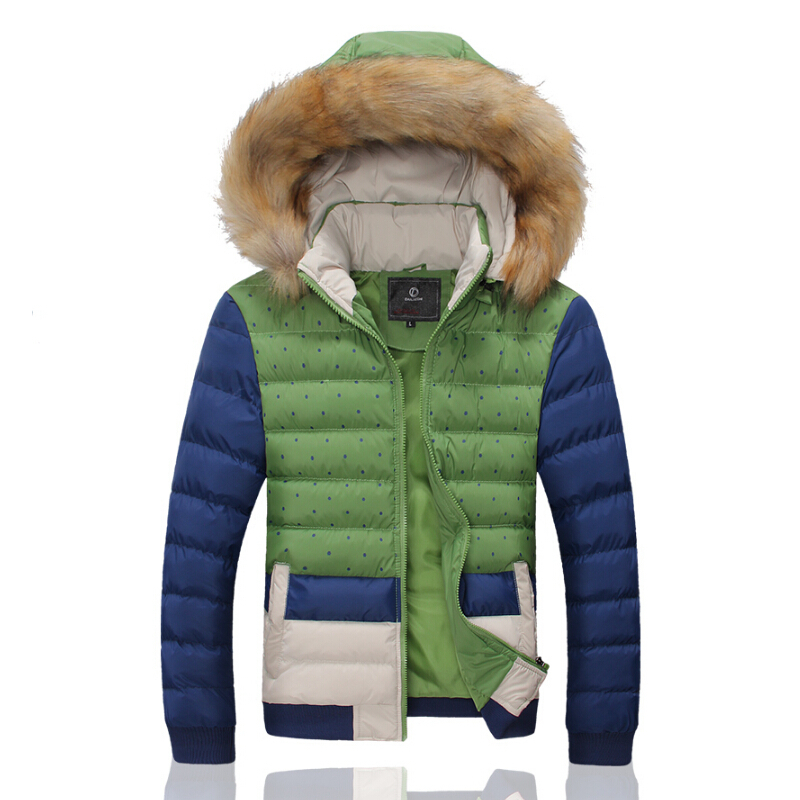 New Winter 2015 Men's Fashion Personality Thickening Cotton-Padded Jacket Warm Man Hitting Scene - qian gao's store