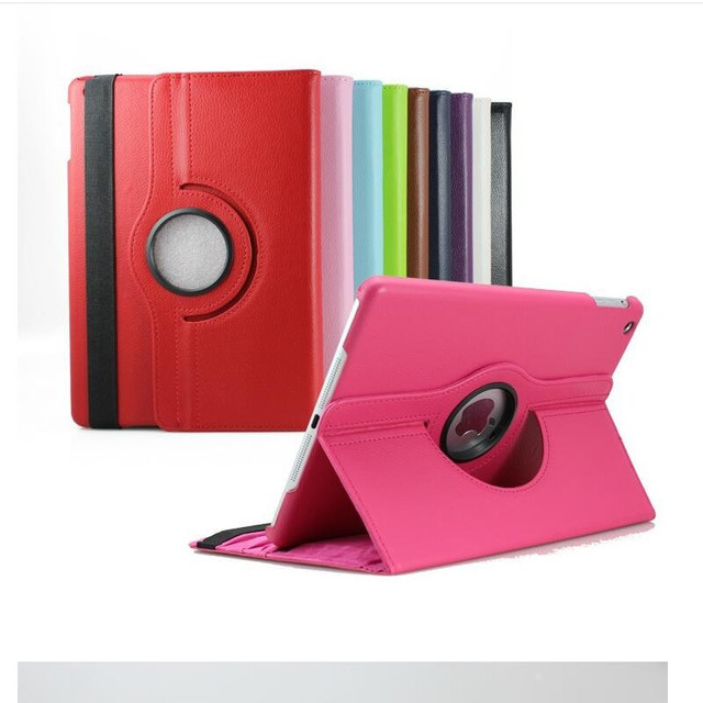 Case For Apple iPad Mini 4 360 Rotating Smart Cover for iPad Mini4 Tablet case PU Leather Protect Case w/Screen Protector+film