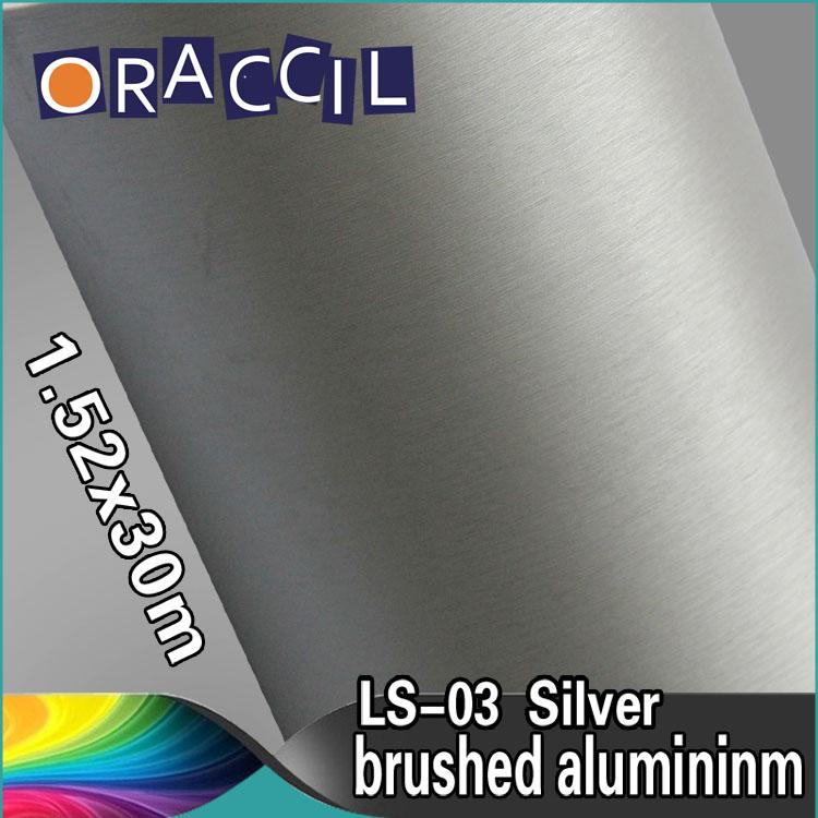 Guarantee 100% 1.52x30m Car Decoration Stickers Vinyl Film Brushed Aluminum(China (Mainland))