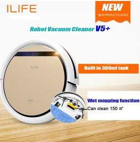 DHL freeshipping Robot Vacuum Cleaner Wet and Dry Clean MOP Water Tank HEPA Filter,Ciff Sensor,Self Charge ROBOT aspirator(China (Mainland))
