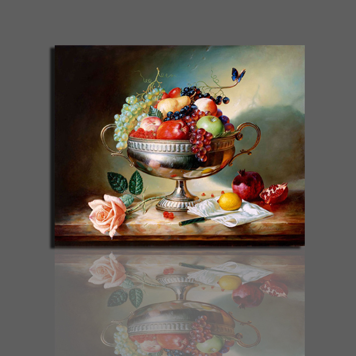 Buy printed still life oil painting on for Dining room wall art canvas