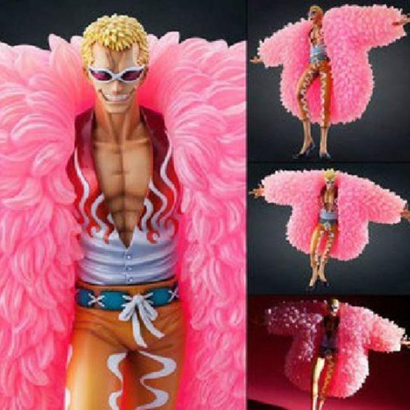 Фотография Anime Figure One Piece POP Donquixote Doflamingo Pvc Action Figure Collection Children Model Doll Toys