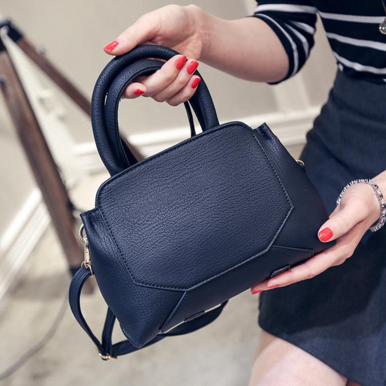 2016 Women Leather Handbags Clearance Stitching Women Pu Leather Bag High Quality Women Zipper Clutch Bag Book Fashion Handbag(China (Mainland))