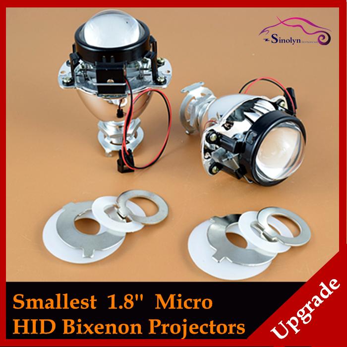 1 8 46mm smallest micro hid bi xenon headlight projector for Smallest micro projector