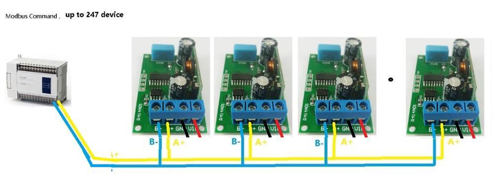 Temperature Humidity Sensor Module Rs485 Modbus Rtu