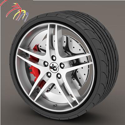 8 Meter Car Styling Wheel Hub Rim Protection Decorative Sticker For Subaru Forester Outback Legacy Impreza XV BRZ(China (Mainland))