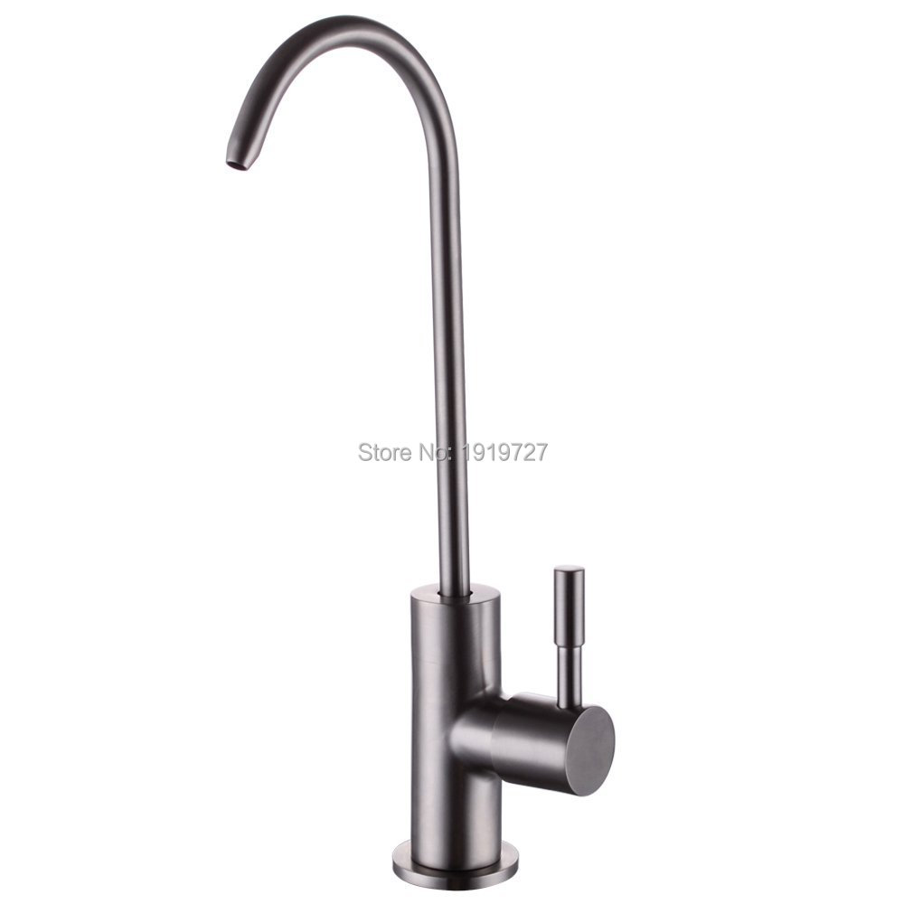 Lead Free Beverage Kitchen Faucets Drinking Water Filtration System 1/4-Inch Tube Brushed Stainless Steel(China (Mainland))