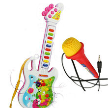 Electronic Guitar Music Instrument Educational Toy Kid Gift Early Education Toys(China (Mainland))