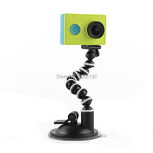 Flexible Arm Extension Car Windshield Vacuum 7cm Suction Cup Mount For Sony Action Camera GoPro Hero 4 3 Xiaoyi SJ4000 SJ6000