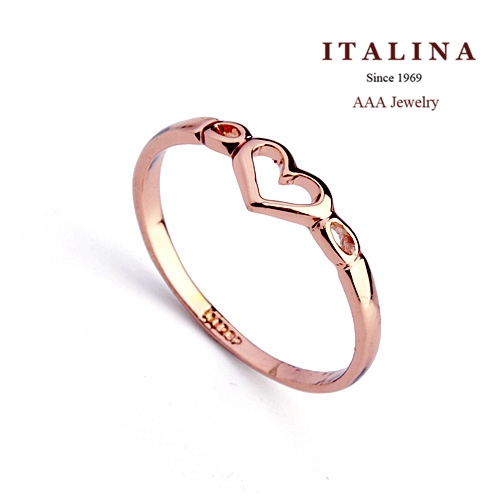 Promotion! 110314 AAA Fashion Glossy Heart Ring for Women Gold Plated ITALINA Jewelry(China (Mainland))