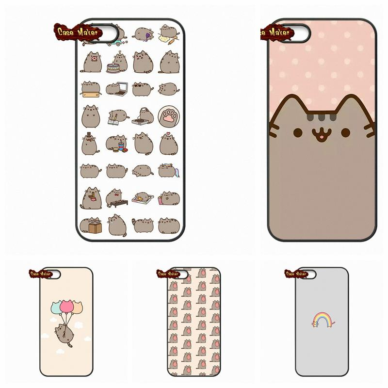 Funny Pusheen The Cat Gifs Phone Cover Cases For LG Nexus 5 D820 D821 E980 Sony Xperia Z Z1 Z2 Z3 Z3 Z4 Z5 Compact M2 C C3(China (Mainland))