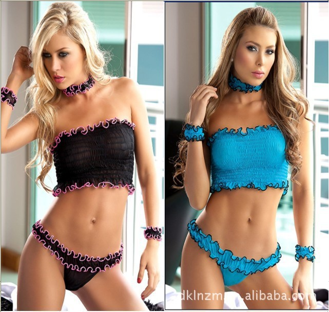 Sexy lingerie Three-point sexy bikini chest cute girl playful joy suit made clothing(China (Mainland))