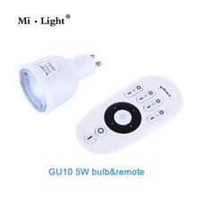 Buy Milight WIFI GU10 Dual white dimable 2.4G led spot light 220V 5W LED Bulb control remote mi.light bulb series for $7.20 in AliExpress store