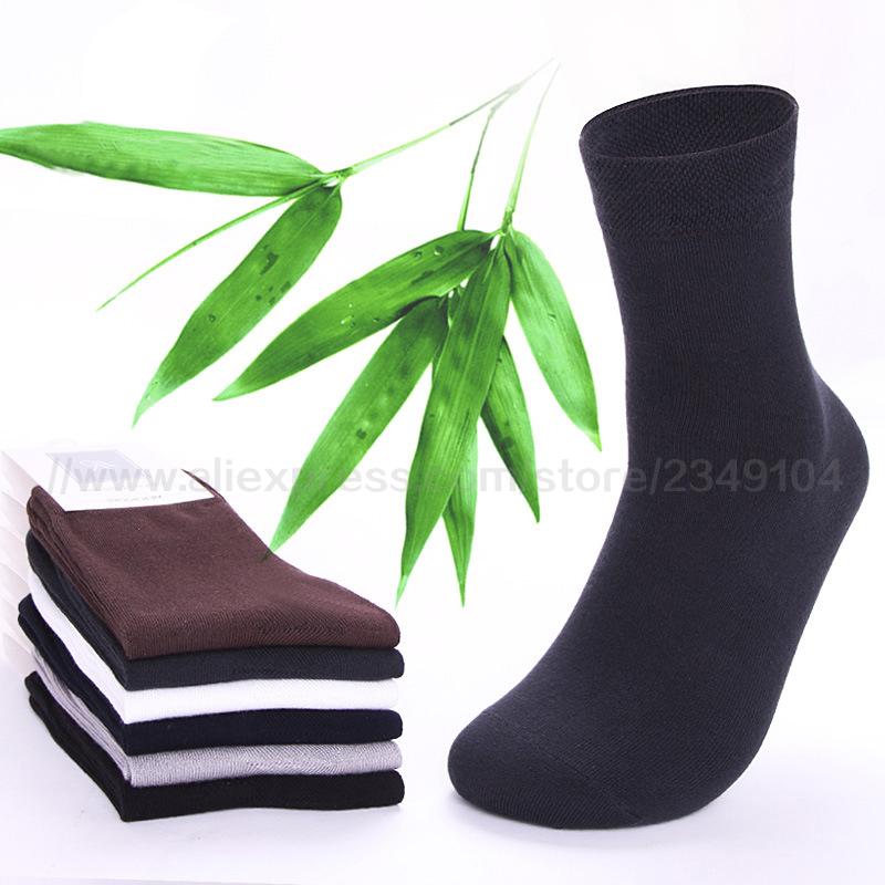 2017 Brand New 6 Pairs High Quality Men Cotton And Bamboo Fiber Socks Casual Anti-Bacterial Deodorant Summer Men's Socks B107(China (Mainland))