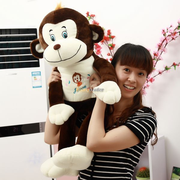 Fancytrader 28 / 70cm Super Soft Stuffed Cute Plush Monkey, 2 Colors Available! Free Shipping FT50352<br><br>Aliexpress