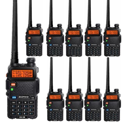 10 PCS BAOFENG UV-5R two way radio walkie talkies VHF/UHF Dual Band portable Radio Ham Handheld Tranceiver FM Radio(China (Mainland))