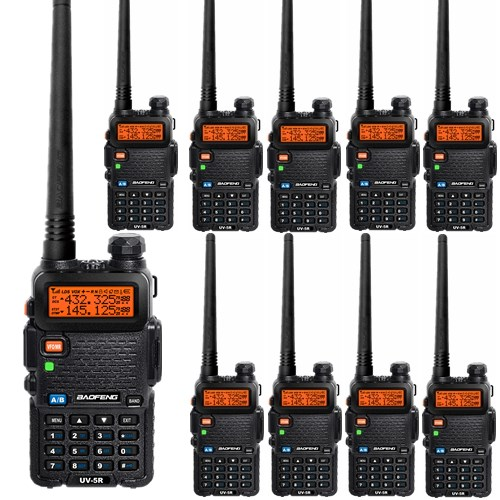 10 PCS BAOFENG UV-5R two way radio walkie talkies VHF/UHF Dual Band portable Radio Ham Handheld Tranceiver FM Radio(China (Mainland))
