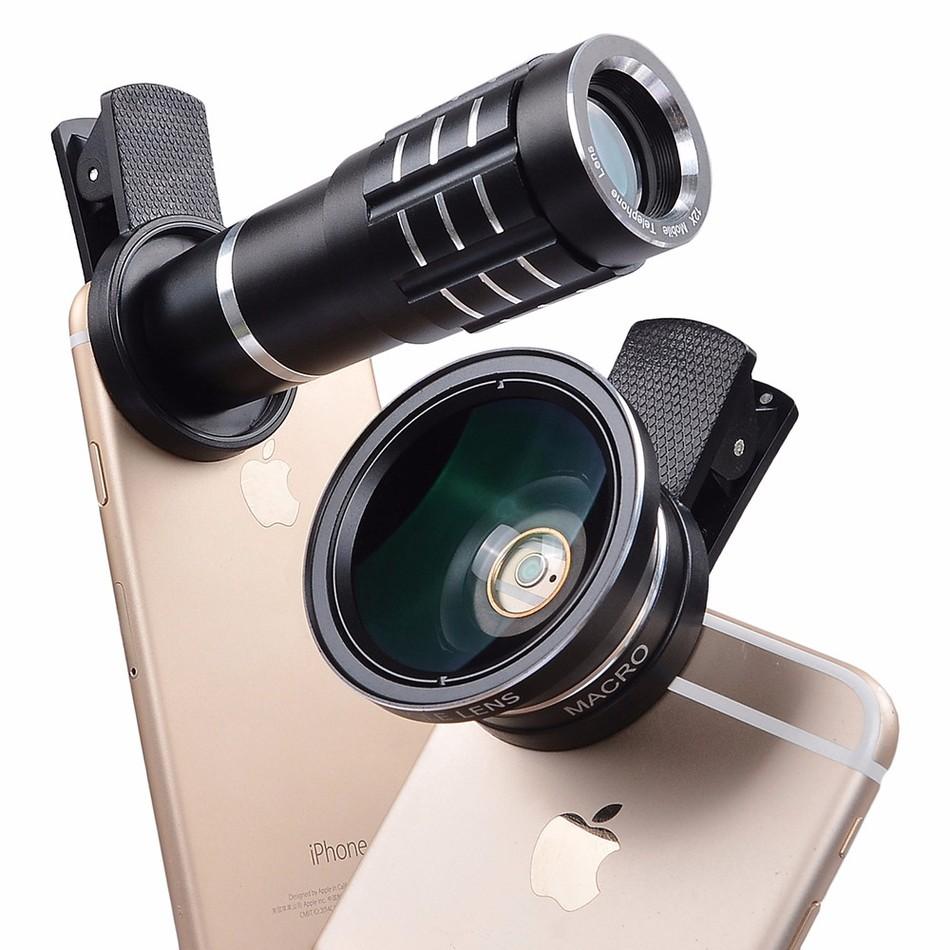 2017 New Universal 0.45X HD Wide Angle Macro lens 12x telephoto lens For Samsung Galaxy J3 A7 A8 grand prime motorola e398(China (Mainland))