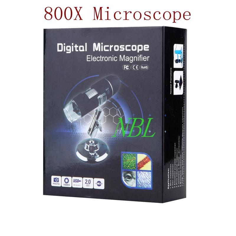 8*LED HD CMOS Sensor USB 20X-800X Digital Microscope Electronic Magnifier With Original Retail Box Big Discount FreeShipping(China (Mainland))