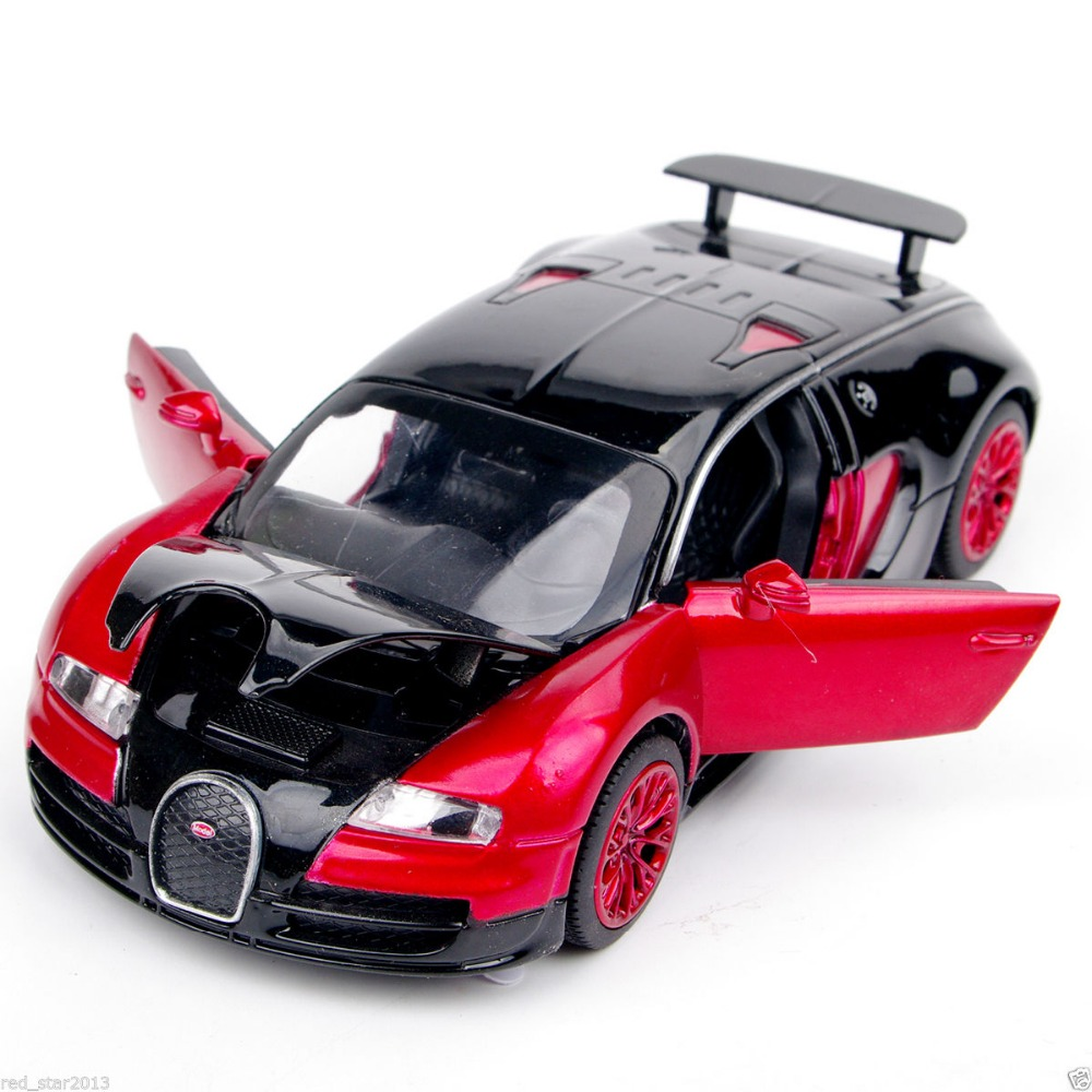 New Collectible Model Cars Bugatti Veyron Model Car 1:32 Alloy Diecast Mini Model Cars New Electronic Car With Light & Sound A(China (Mainland))
