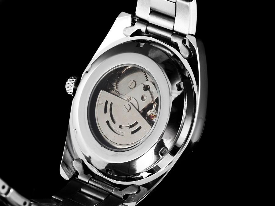 ПОСЕТИТЕЛЬ модного бренда мужские механические часы Спорта водонепроницаемый Световой Нержавеющей Стали Скелет Автоматические Наручные часы Мужской часы