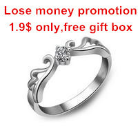 Lose money promotion hot sell angel wing design 925 sterling silver ladies`wedding rings jewelry(China (Mainland))