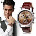 snowshine 30 New Luxury Fashion Faux Leather Mens Analog Watch Watches free shipping