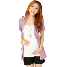 2016 Summer Cotton False Two Piece Nursing T Shirts & Blouses For Pregnant Women Maternity Tops Pregnancy Breastfeeding Clothes(China (Mainland))