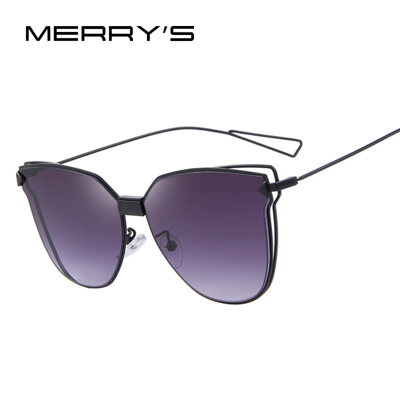 MERRY'S Fashion Women Sunglasses Classic Brand Designer Sunglasses Coating Mirror Flat Panel Lens Shades S'8000(China (Mainland))