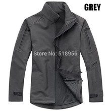 Commander Mens Soft Shell Waterproof Jacket Outdoor TAD Military Officer Coat Windproof Thermal Sports Outerwear fleece lining