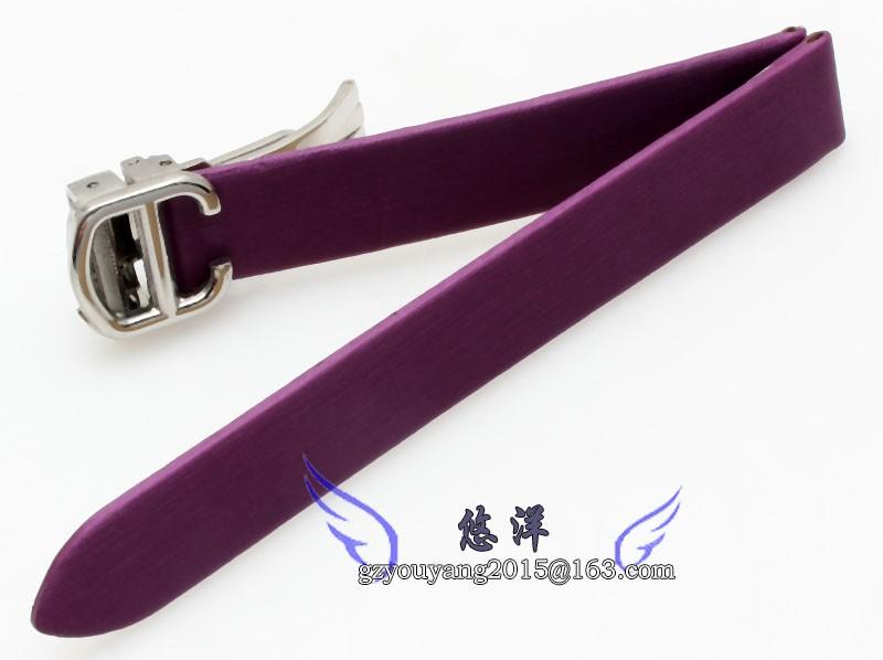 Прочный кожаный раскладывающаяся часы ремень пряжка браслет ремешки 14 мм