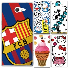 Buy Sony Xperia M2 Case, Flower Football Club Painting Soft Silicon Back Cover Case Sony Xperia M2 S50h Dual D2302 D2305 for $1.32 in AliExpress store