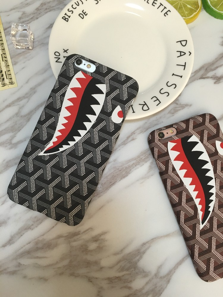Shark Brand Brand Design For iPhone 5 5s 6 6S 6Plus 6S Plus For Apple PC For iPhone Phone Case Shell Back Cover Cute cas
