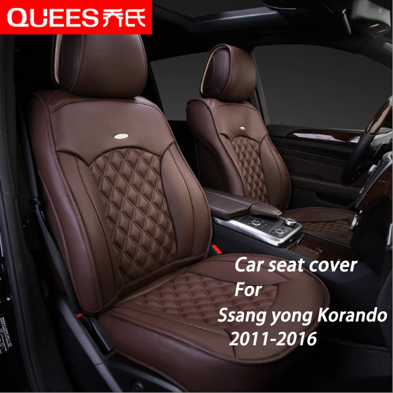 6 Colors Tailor-made Car Seat Cover for Ssang yong Korando (2011-2016) Composite pu Car Styling car accessories Protector(China (Mainland))