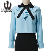 Buy Dingaozlz 2017 spring new Korean fashion female OL shirt elegant stitching long sleeve chiffon blouse shirt women clothing for $16.14 in AliExpress store