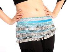 free shipping belly dance belt/Belly Dance Scarf Belt Hip Wrap Skirt 338 Silver Coins