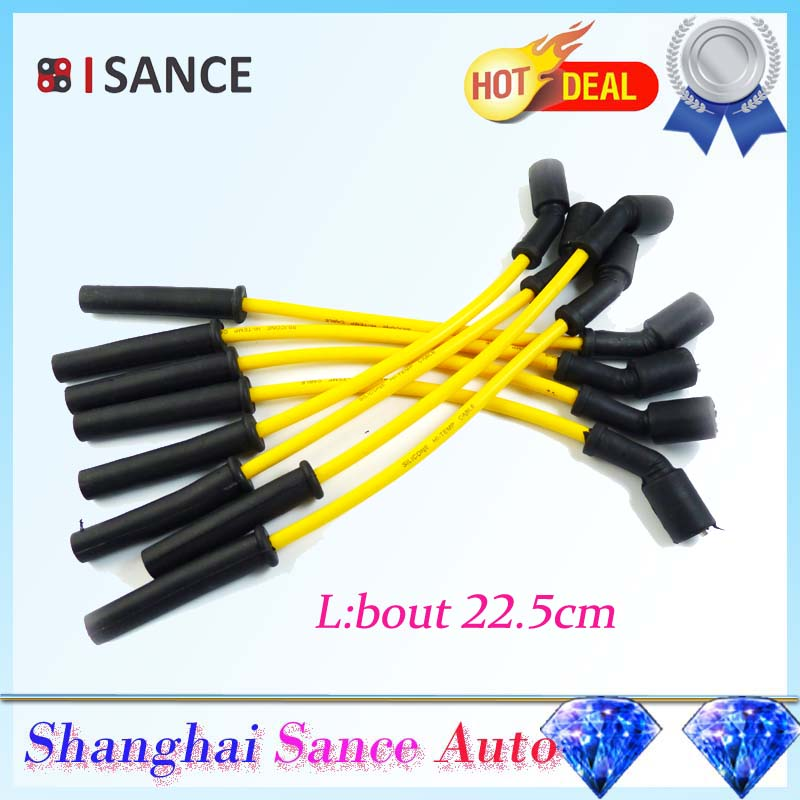 ISANCE Ignition Spark Plug Wire Cable Spiral LS1 Set 8.5mm 32819 For Chevrolet Corvette Camaro 5.7L 1998 1999 2000 2001-2003(China (Mainland))