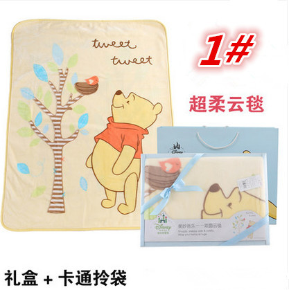 Фотография Factory Price 4 Styles Fluffy Cartoon Baby Blankets Newborn 140*110cm Swaddle Wrap Blanket Super Soft For Boys And Girls
