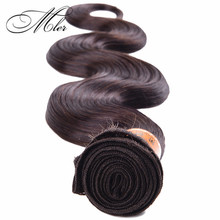 2015 New Arrival 6A Grade Peruvian Virgin Hair Body Wave Color 4 Human Hair One Pcs Remy Hair Weft Extension Online