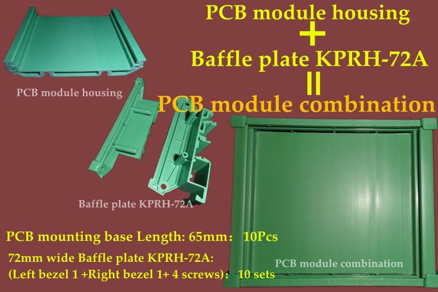 65mm PCB module housing Electronic components panel mounting base And Baffle plate KPRH-72A application PCB control board holder(China (Mainland))