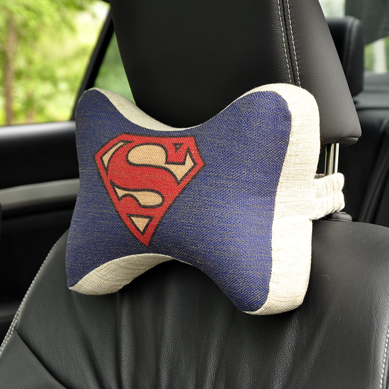 Super Man Car headrest neck pillow Cartoon Car head back support cushion space memory foam seat covers car interior accessories(China (Mainland))