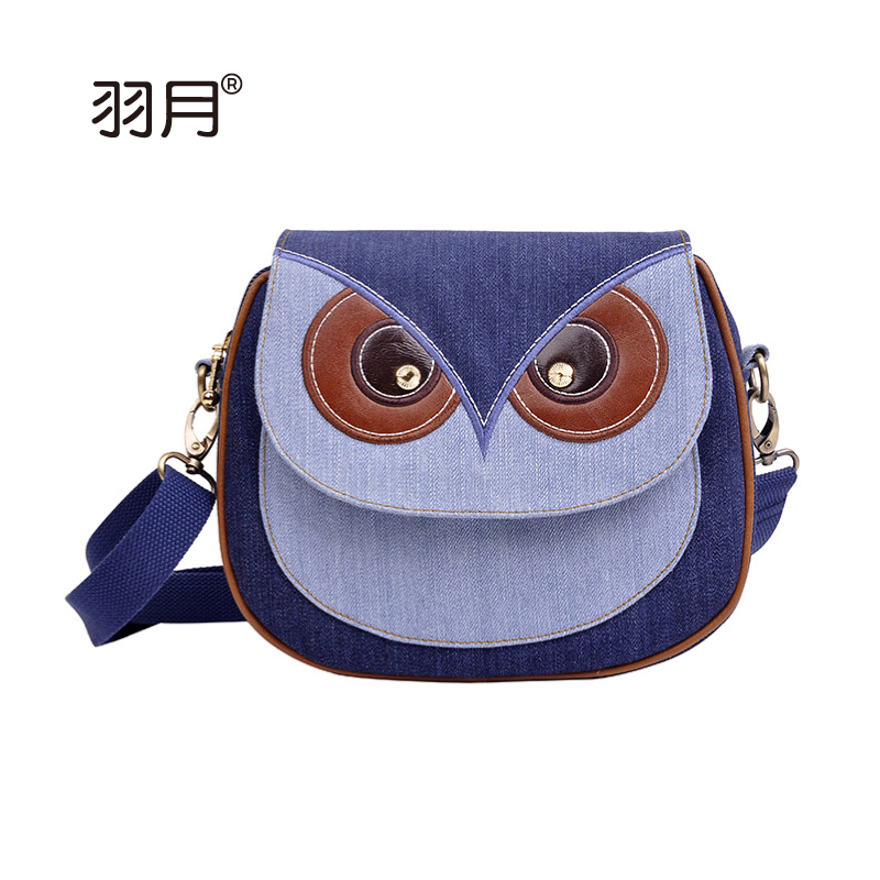 denim cloth leisure owl packet lady lovely small fresh<br><br>Aliexpress