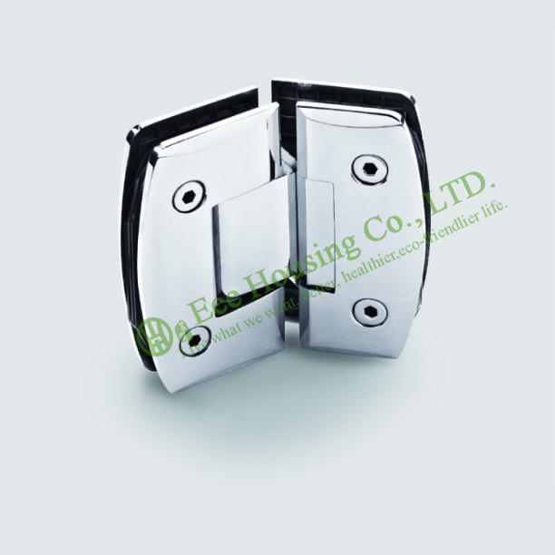 Stainless Steel 135 Degree Shower Door Hinge, Glass To Glass 135 degree Bathroom Glass Door hinge, Mirror finished Glass clamp(China (Mainland))